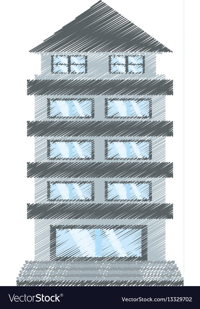 Drawing building apartment family