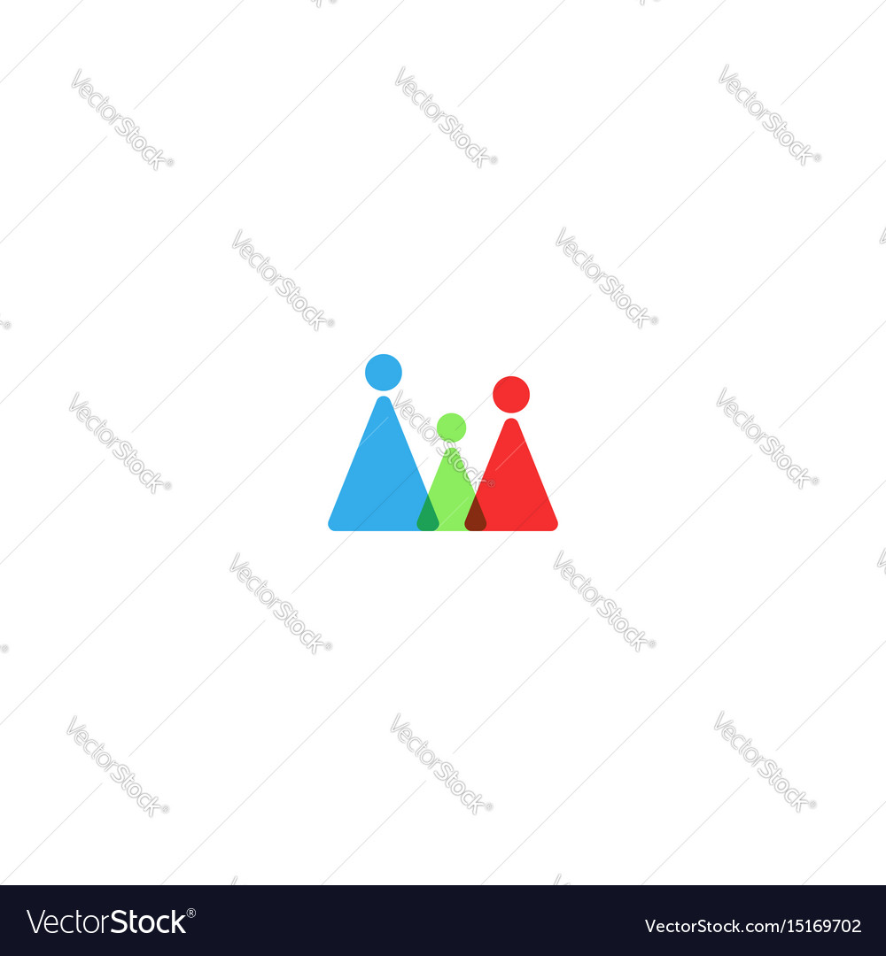 Family logo mockup silhouette mother father and