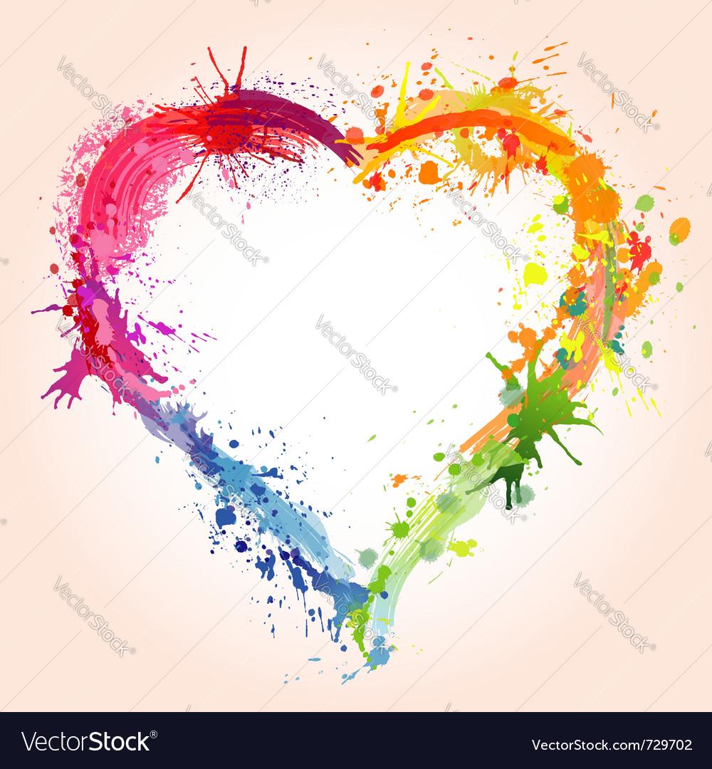 Grunge valentines day heart