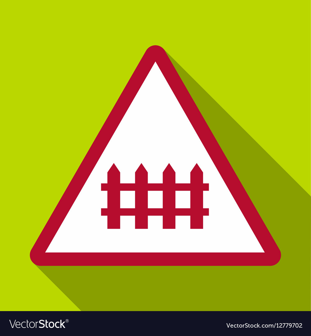 Warning sign icon flat style vector image