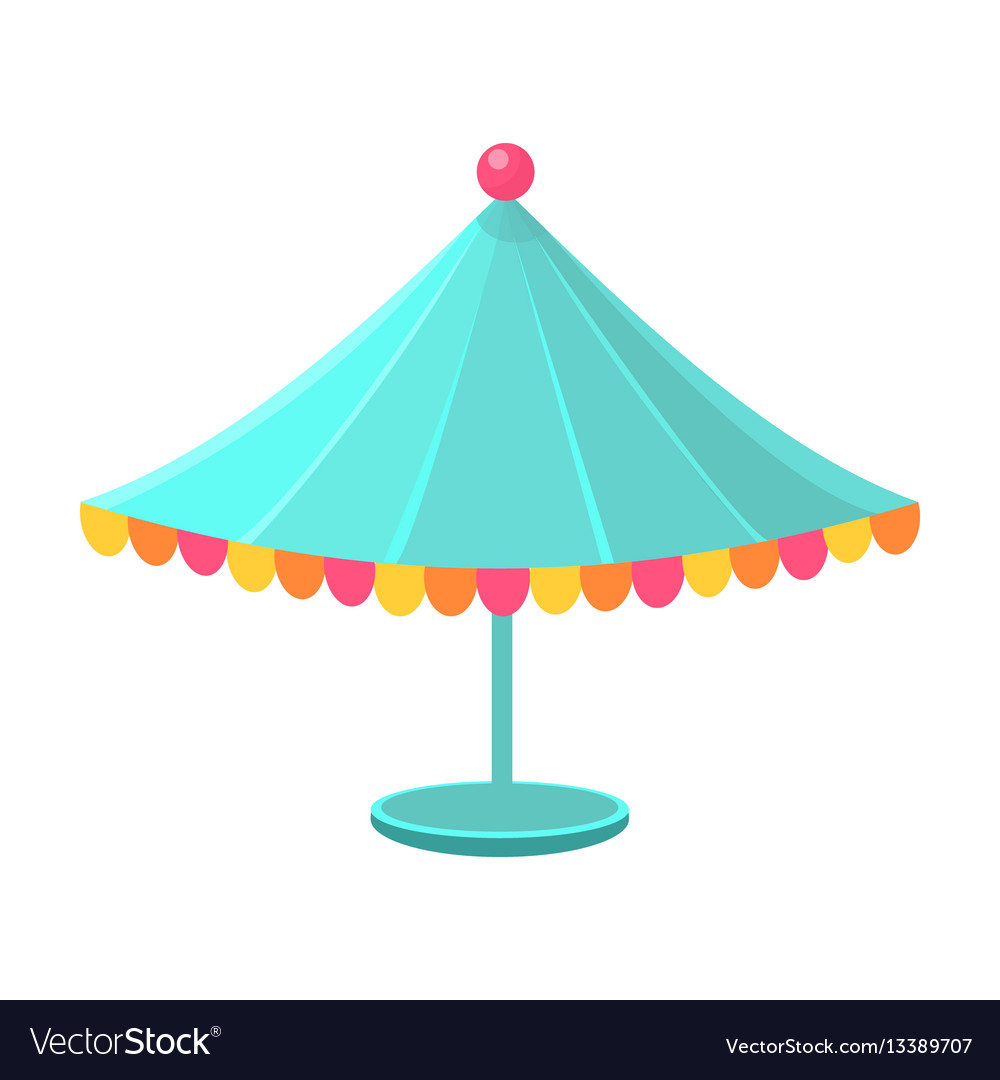 Blue decorated circus canopy object from baby