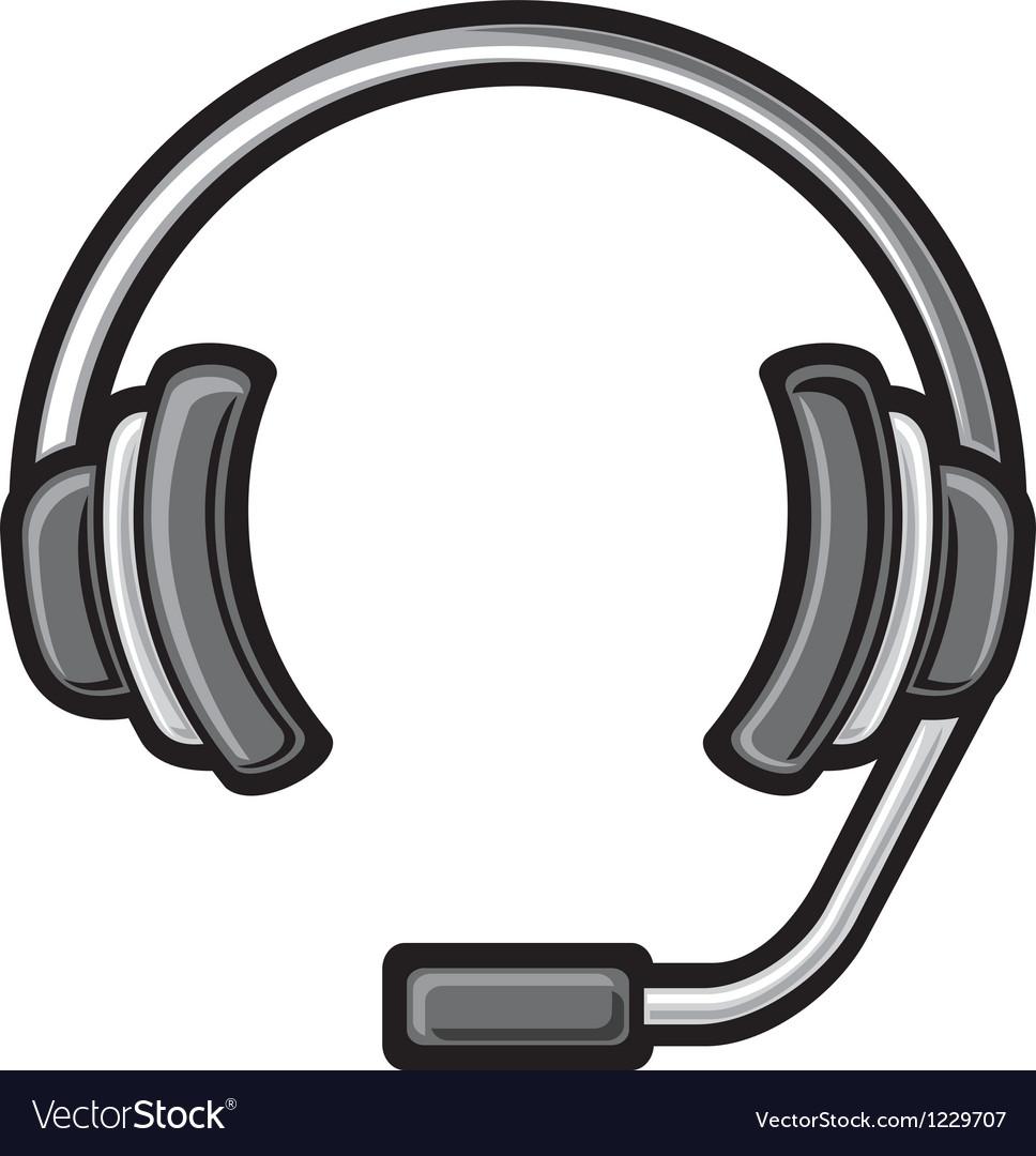 call center headset royalty free vector image vectorstock rh vectorstock com  headphone icon free vector