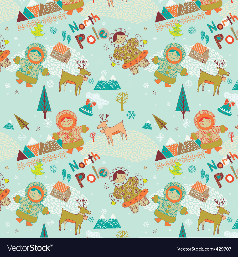 Cartoon Christmas scene vector image