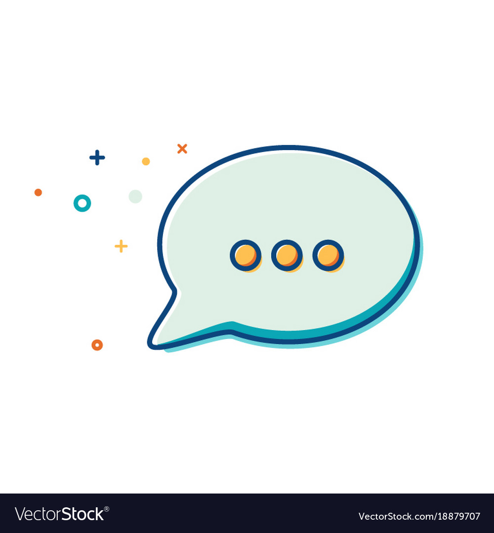 Chat icon in trendy style - thin line flat design
