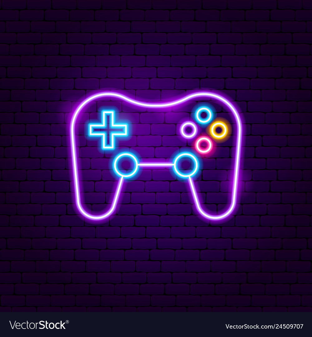 Game playing neon sign