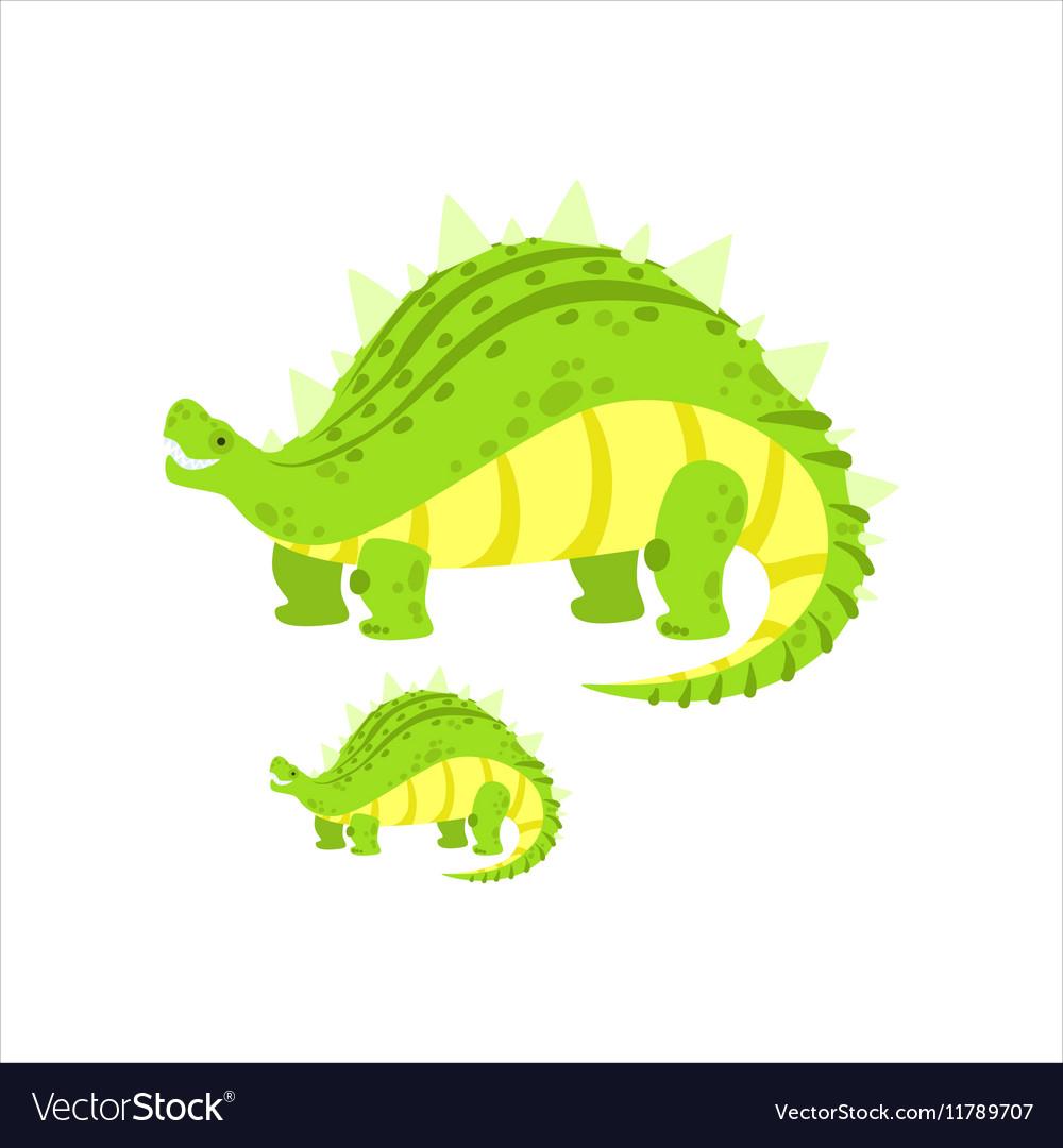 Green Stegosaurus Dinosaur Prehistoric Monster