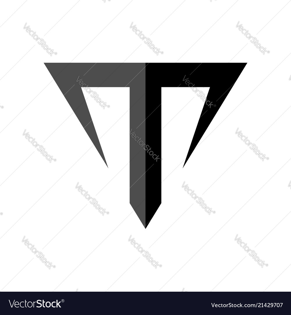Letter t taurus symbol design Royalty Free Vector Image