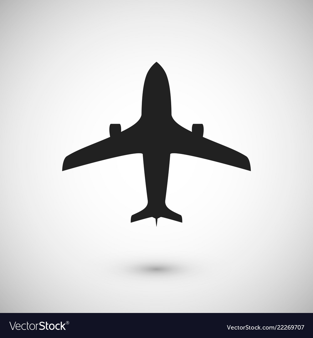 Plane icon jet silhouette template isolated