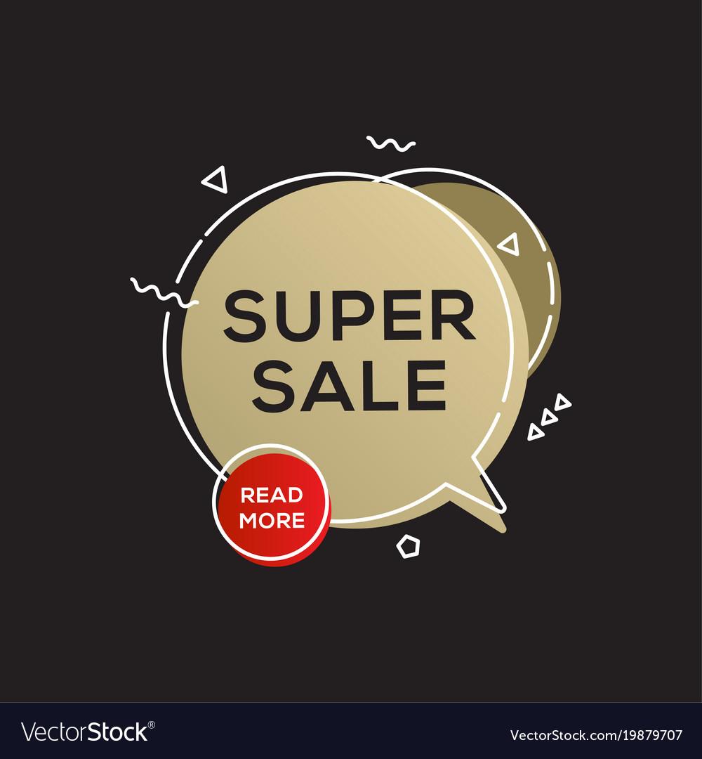 Sale golden banner design template