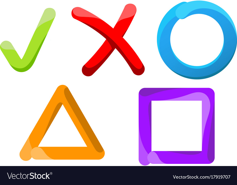 Symbols of choice on a white background