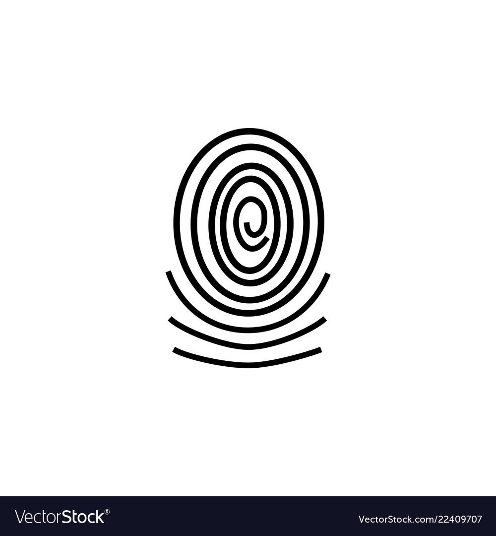 Three fingerprint types on white background loop