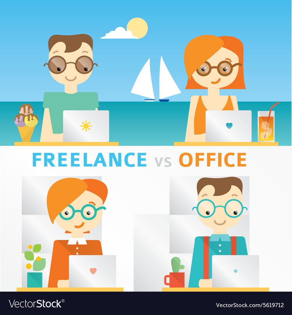 About freelancers working on the vector image