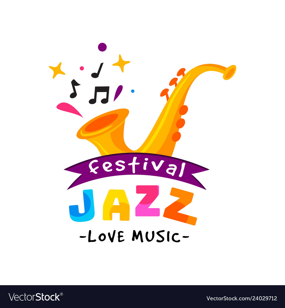 Abstract logo for jazz festival live music