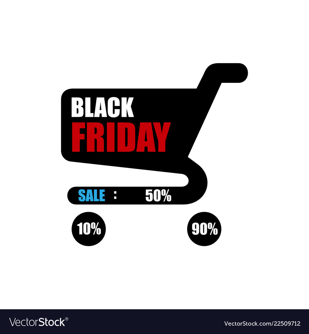 Black friday sale sale poster with shopping cart