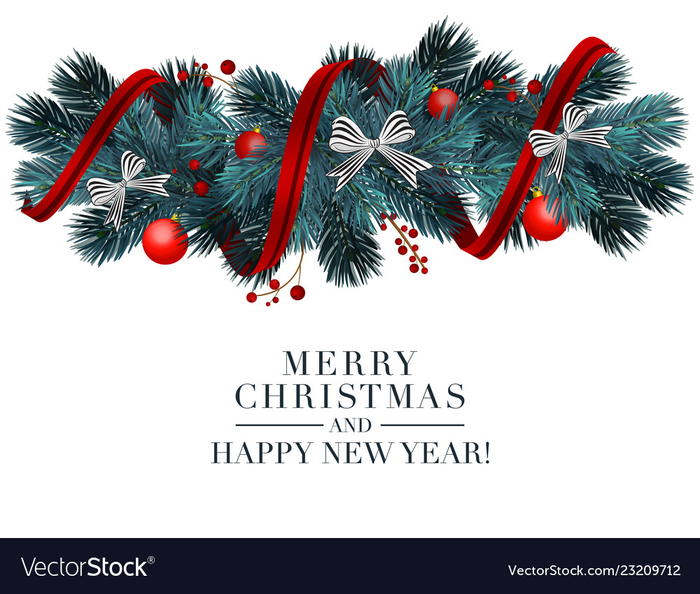 Christmas 2019 greeting card with holiday 3d