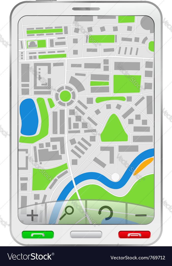 Gps navigator in mobile phone