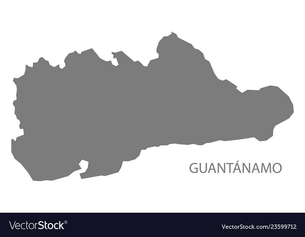 Guantanamo Province In Cuba Map Grey Vector Image