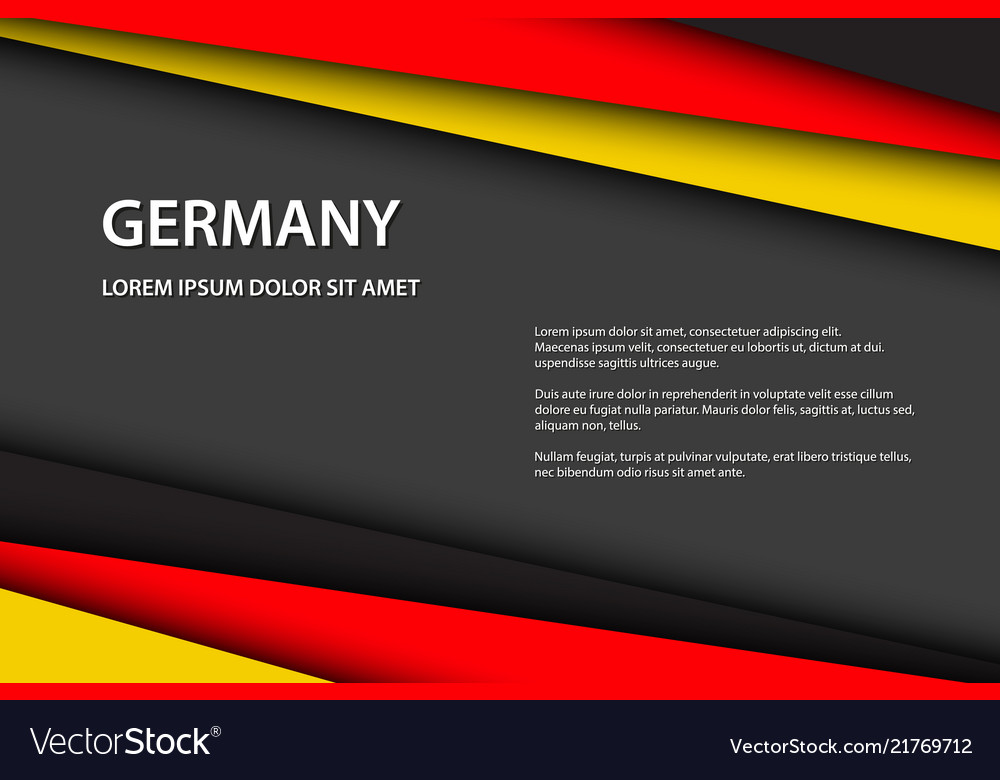Modern background with german colors
