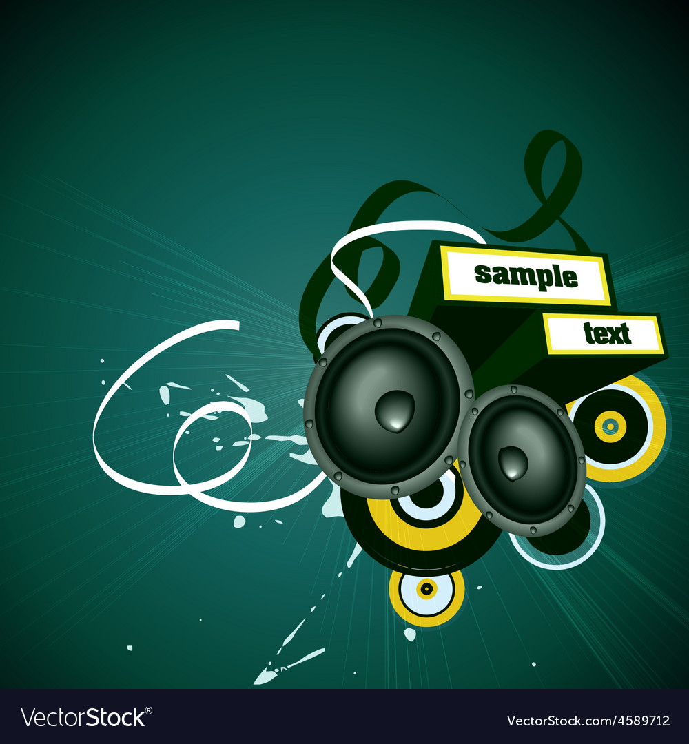 Music artwork vector image