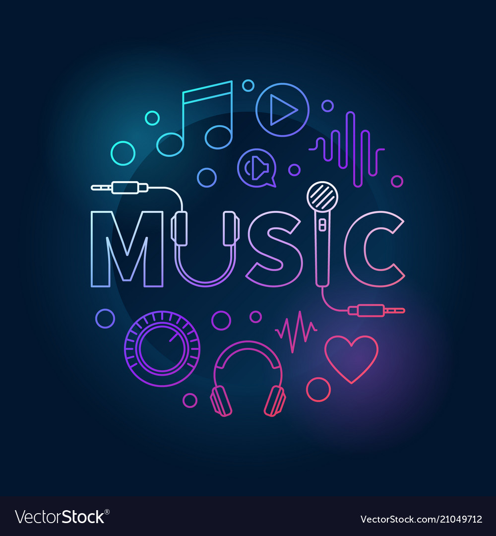 Music colored made with word