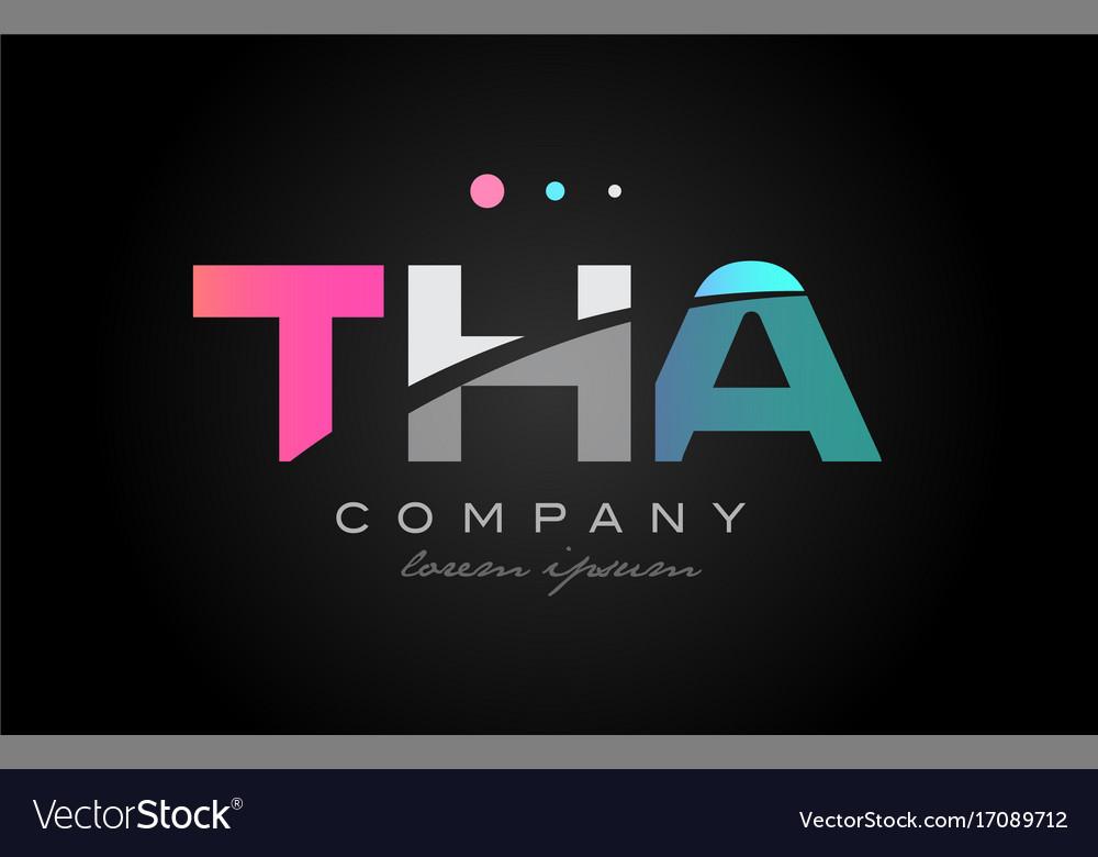 Tha t h a three letter logo icon design