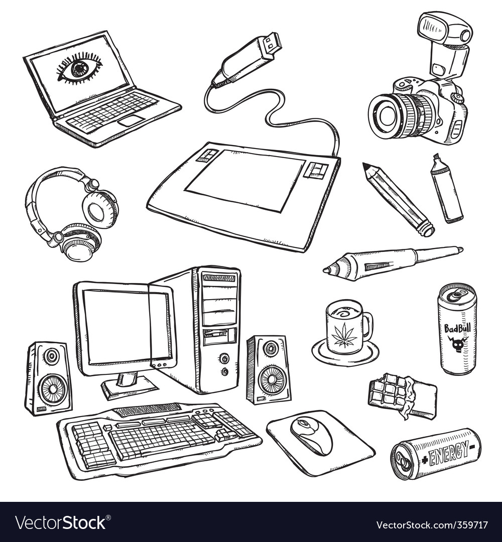 Audio-visual icons vector image