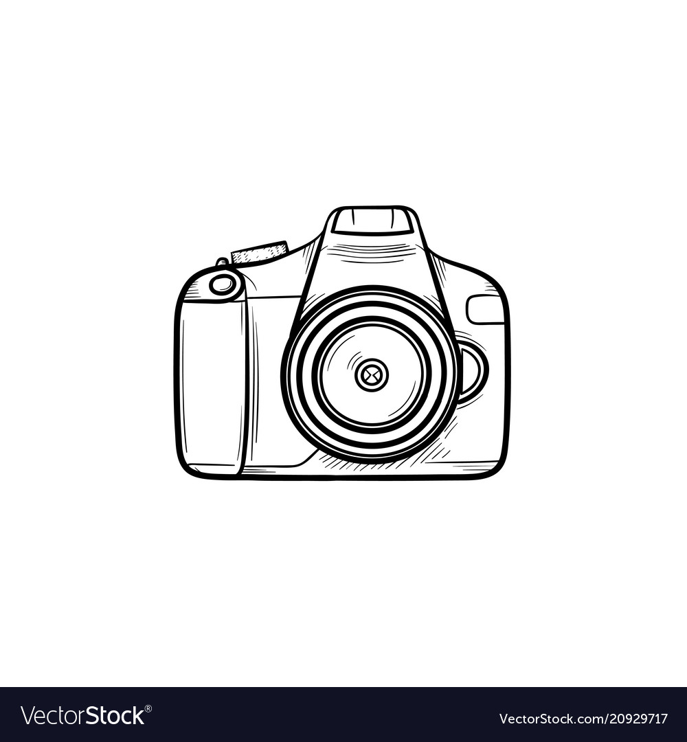 Camera Hand Drawn Outline Doodle Icon Royalty Free Vector