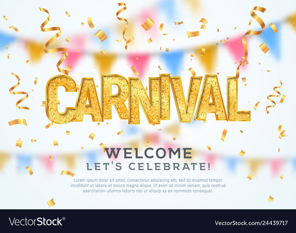 Carnival celebration background template welcome