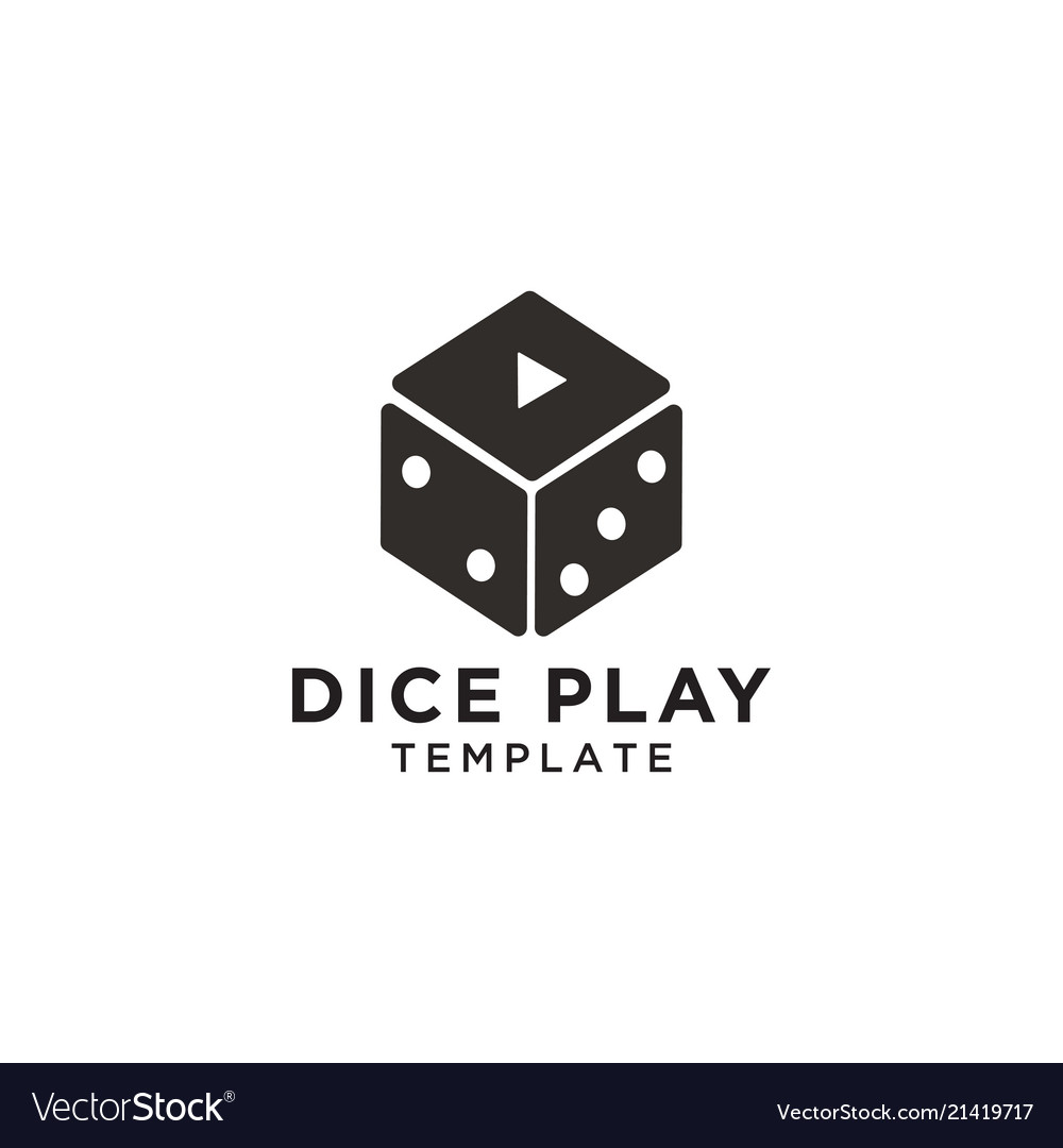 Dice play graphic design template