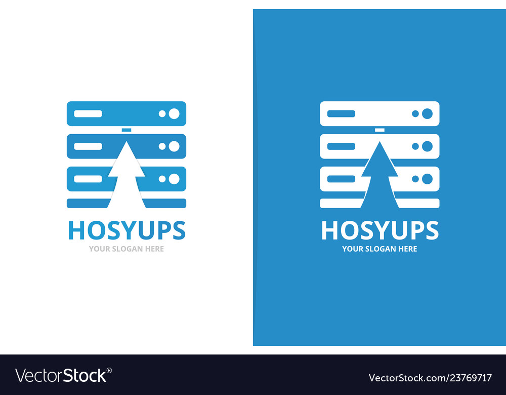 Host and arrow up logo combination unique data