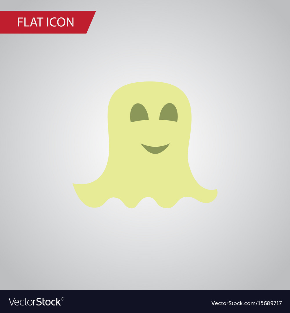 Isolated specter flat icon spirit element