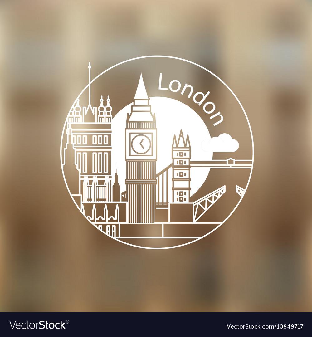 London round linear logo