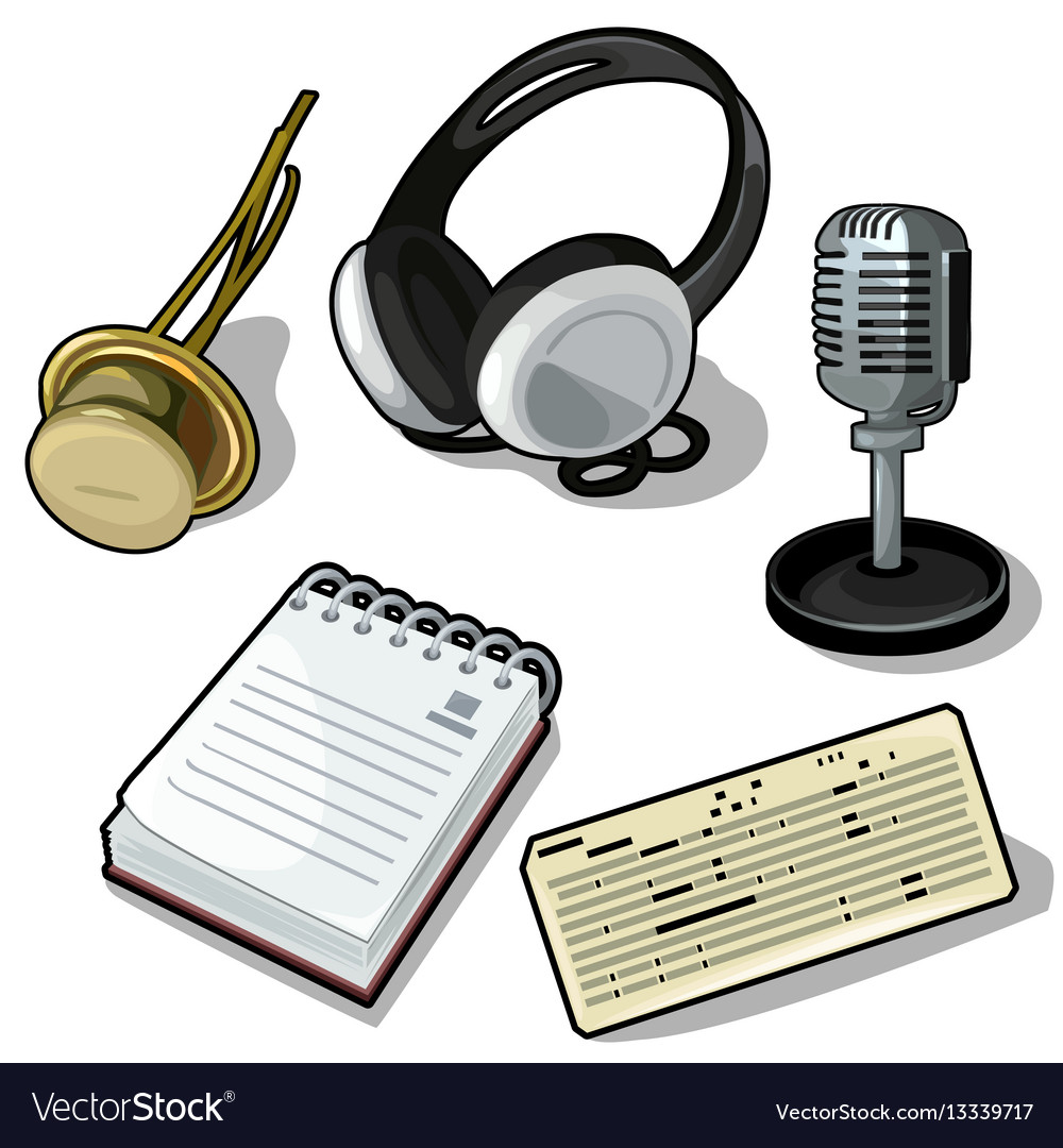 Set headphones microphone notes and other