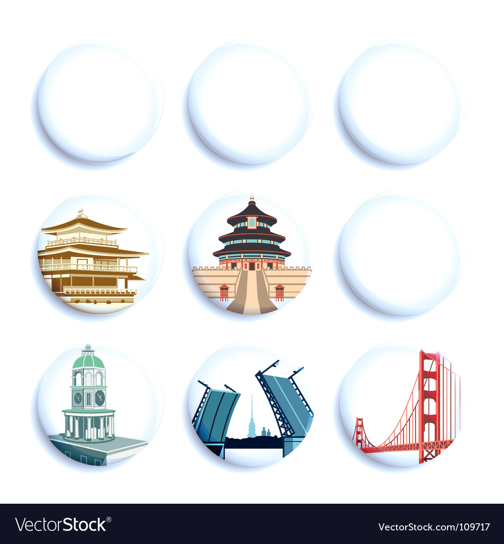 Travel destination badges