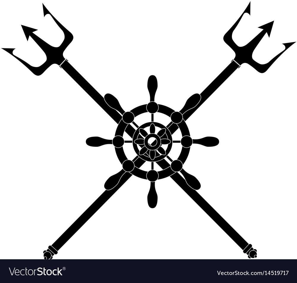 Trident devil fork vector image