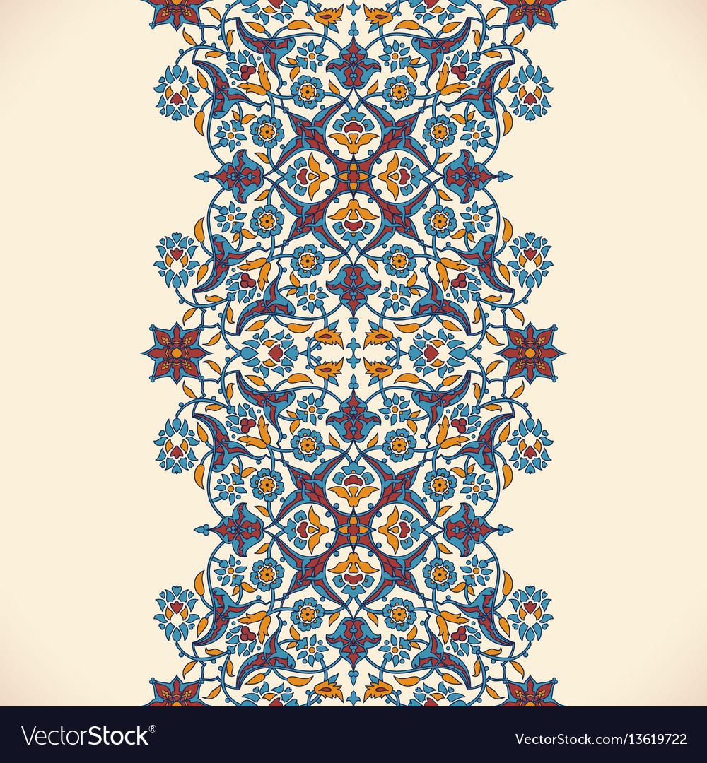 Arabesque vintage seamless border elegant floral