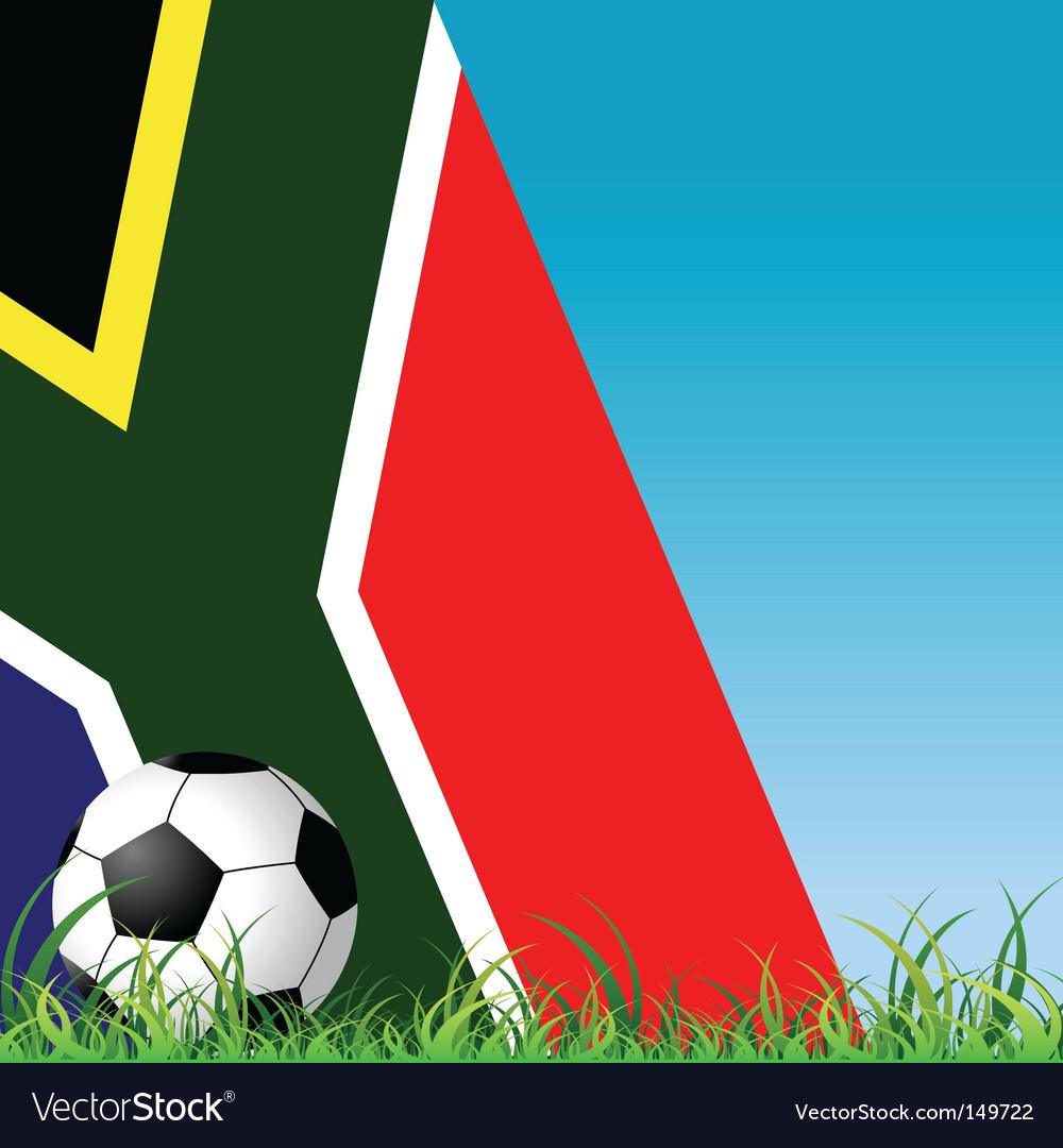Ball grass and flag