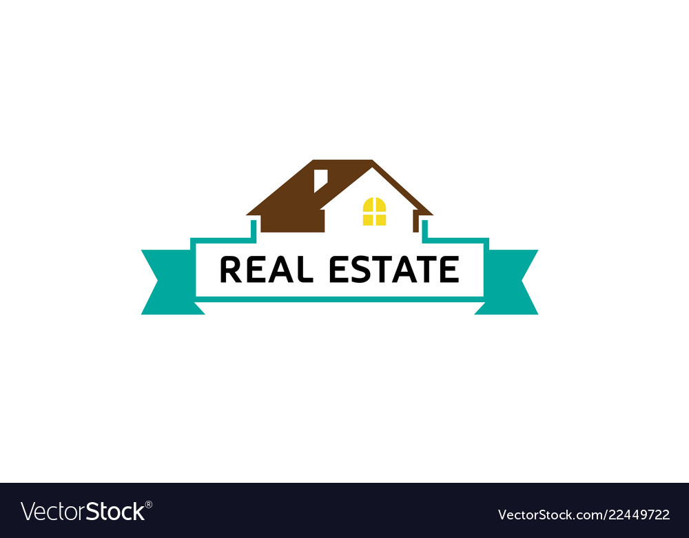 Creative House Roof Real Estate Logo Royalty Free Vector