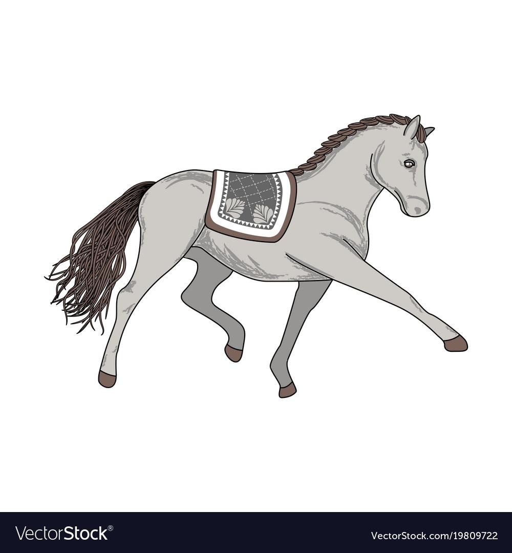 Dressage horse vector image