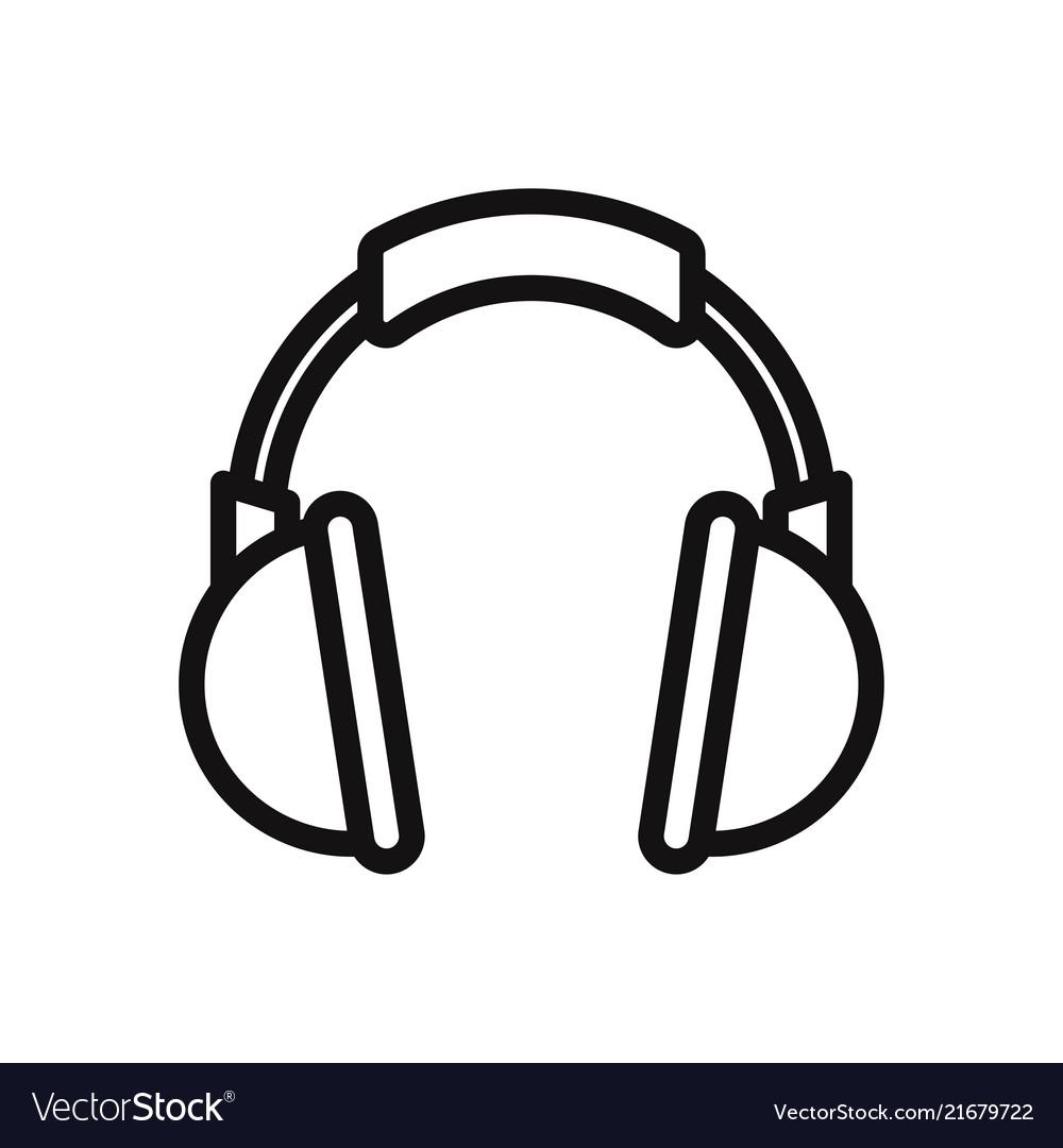 Headphone icon headset music audio dj symbol