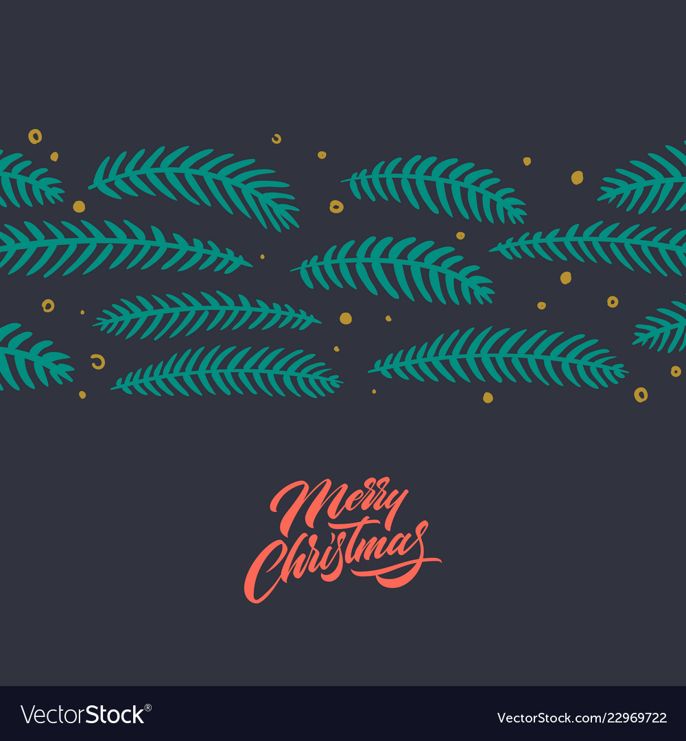 Merry christmas greeting card with lettering