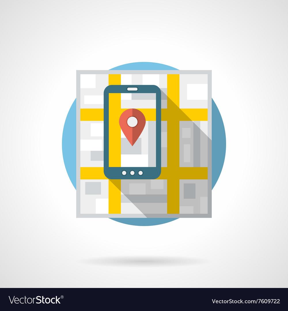 Mobile navigation detailed flat color icon
