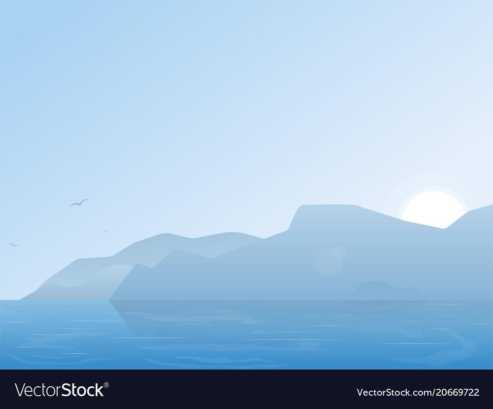 Nature bbackground vector image