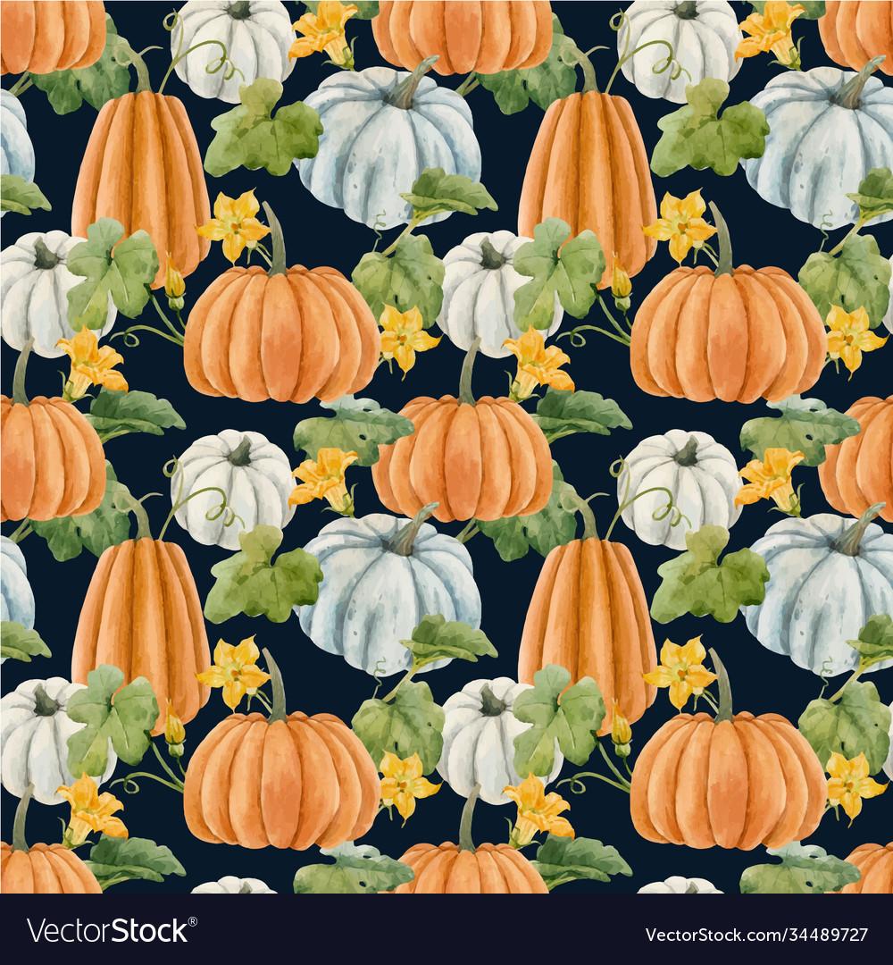 Beautiful autumn seamless pattern with