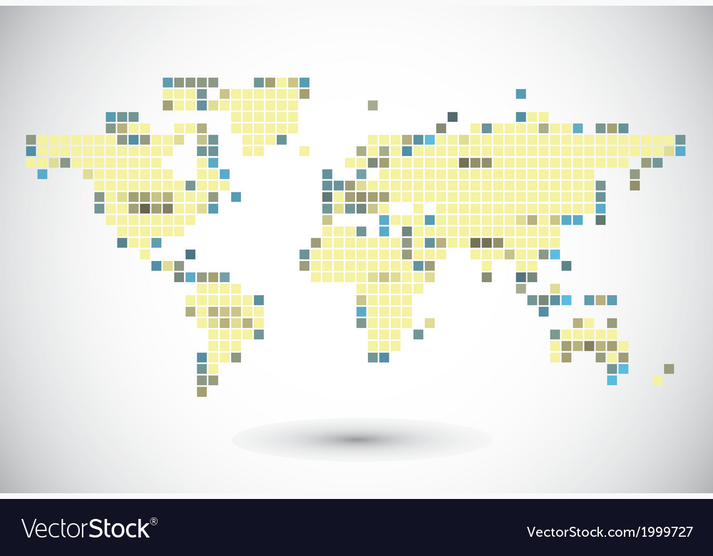 Global connection of cells vector image
