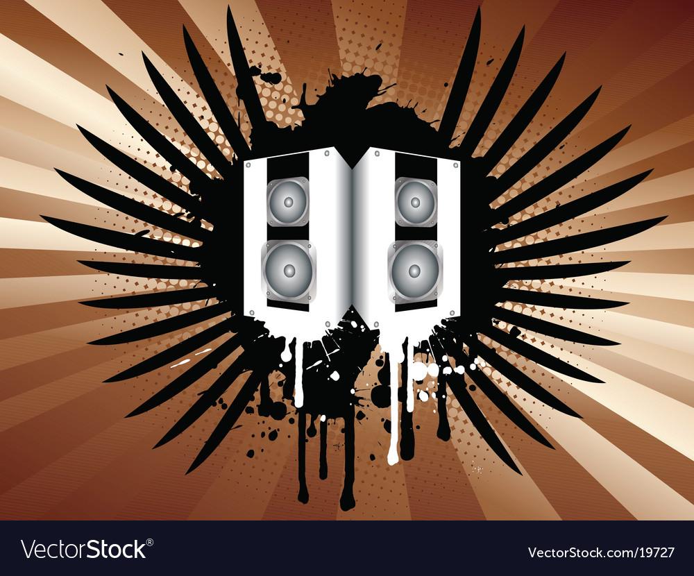 Grunge Camera Vector : Grunge speakers royalty free vector image vectorstock