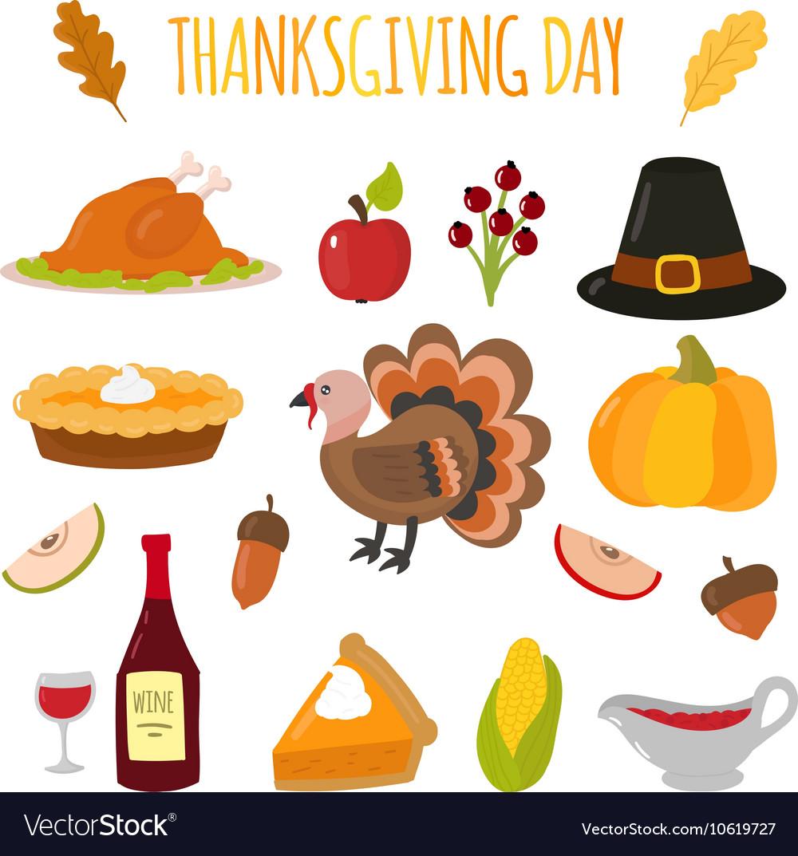 Happy Thanksgiving Day set