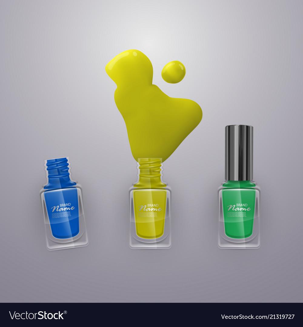 Spilled some nail polishes on light background