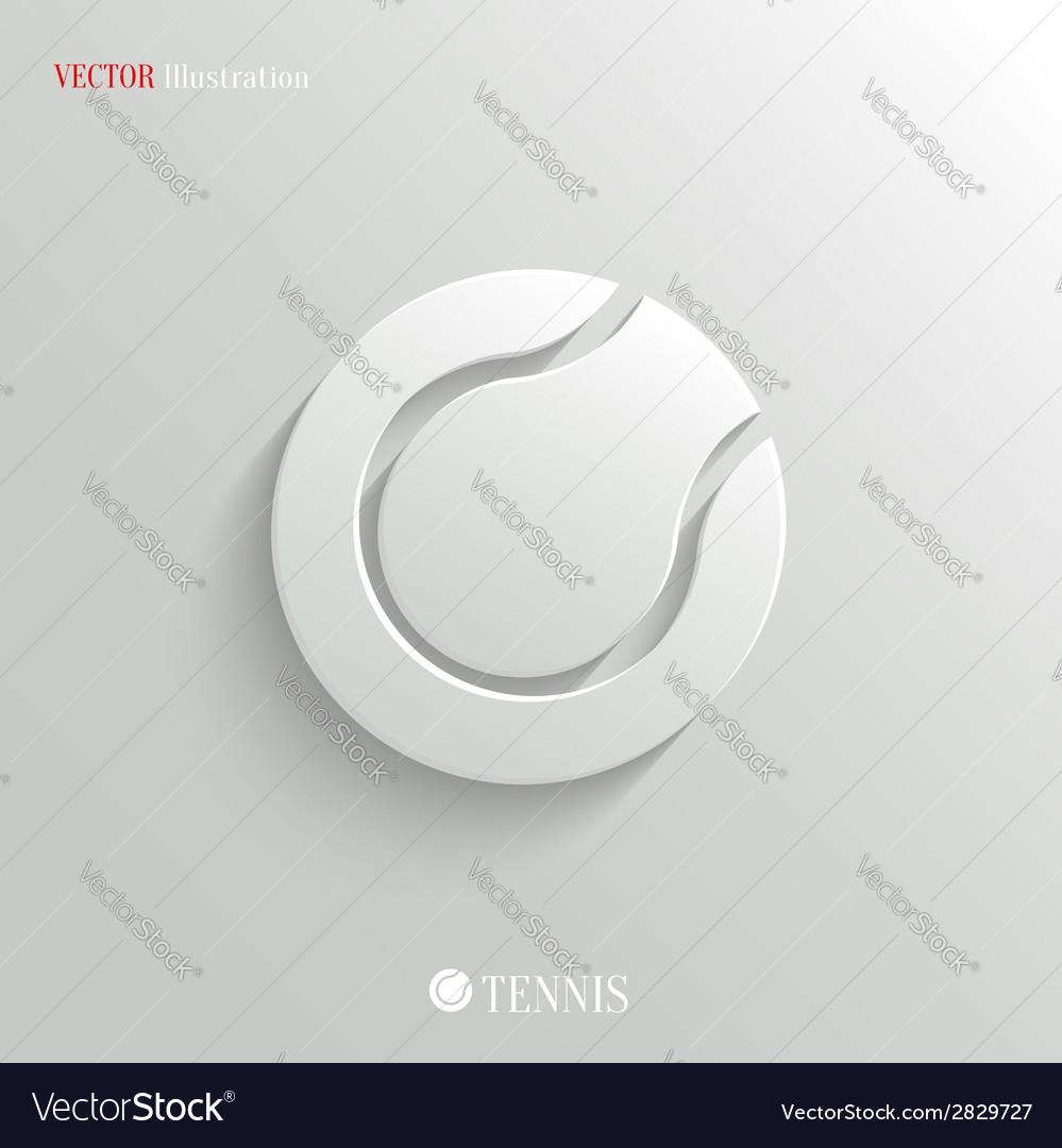 Tennis icon - white app button