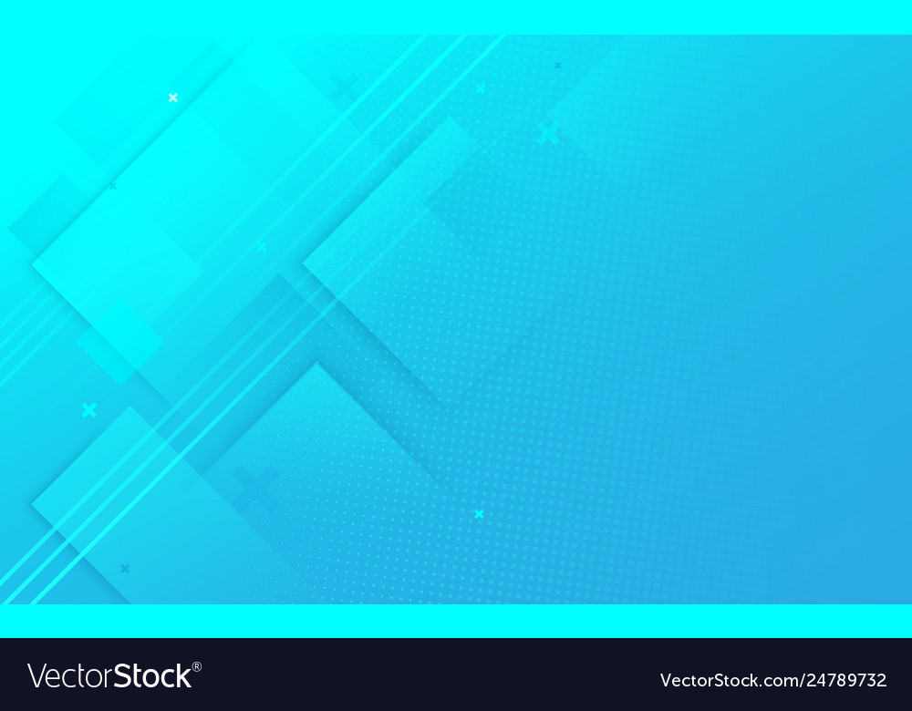 Abstract blue geometric and halftone background